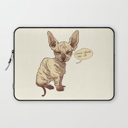 Angry Sphynx Laptop Sleeve