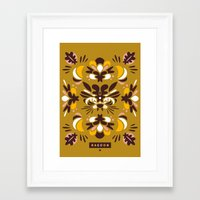 racoon Framed Art Prints featuring Racoon by Typozon