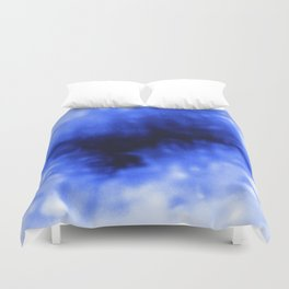 Blue Snow Duvet Cover
