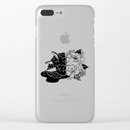 Demon to Some, Angel to Others Clear iPhone Case
