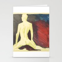 robert farkas Stationery Cards featuring Robert by Azure Cricket