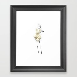 Edible Ensembles: Cauliflower Framed Art Print