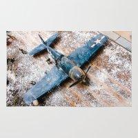 airplane Area & Throw Rugs featuring Airplane by Mauricio Santana