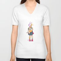 backpack V-neck T-shirts featuring Nice backpack! by Judith Chamizo