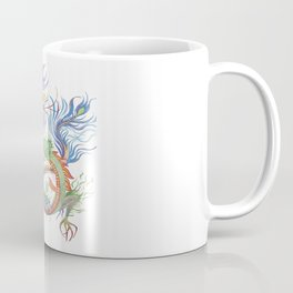 Bright and Vivid Chinese Fire Dragon Vector Coffee Mug