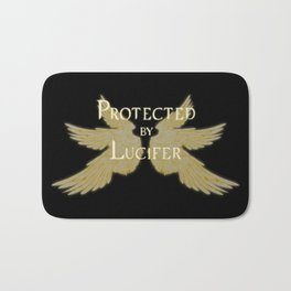 Protected by Lucifer Light Bath Mat