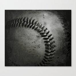 Black and white Baseball Canvas Print