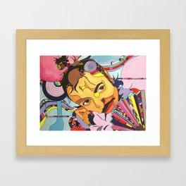 Izzy In Candyland Framed Art Print
