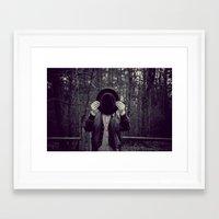 magritte Framed Art Prints featuring Velvet Magritte by KitsuneTea
