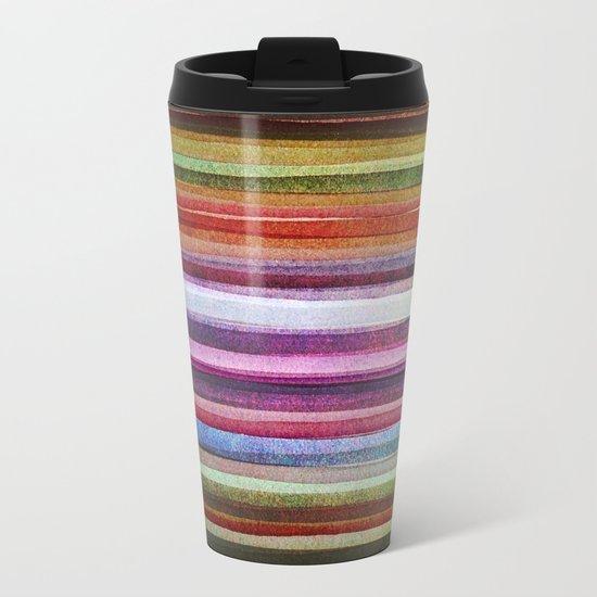 Happy rainbow water colors Metal Travel Mug