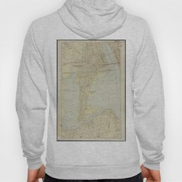 Vintage Map of Bayonne NJ (1912) Hoody
