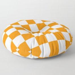 Checker (Orange/White) Floor Pillow