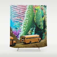 taxi driver Shower Curtains featuring Bus Driver by John Turck