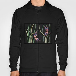 pink dragonfly in the grass Hoody