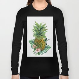 Tropical Pineapple Long Sleeve T-shirt