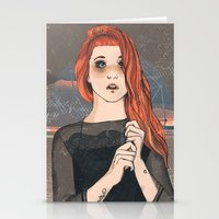 hayley williams Stationery Cards featuring Hayley by Clementine Petrova