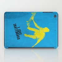 skateboard iPad Cases featuring skateboard  by Easyposters