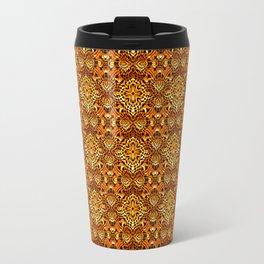 Intricate Gold Wire Weave Pattern Travel Mug