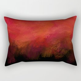 Abstract Red Black Dark Matter Rectangular Pillow