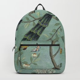 A Teal of Two Birds Chinoiserie Backpack