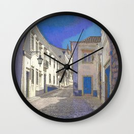 Digital treatment of the arco da vila, Faro, the Algarve, Portugal Wall Clock