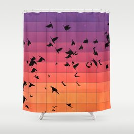 dyspyryt dysk Shower Curtain