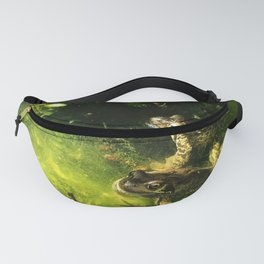 Frogs & Newts in the Garden Pond Fanny Pack