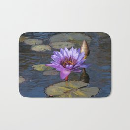 Purple Water Lily Bath Mat