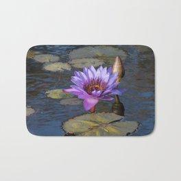 Purple Water Lily Bath Mat