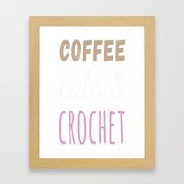 Crochet t-shirt Framed Art Print
