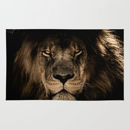 Lion Face Closeup Rug