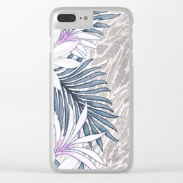 Denim Blooms Forever Clear iPhone Case