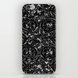 Black and white astral paint 5020 iPhone Skin