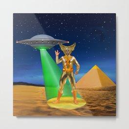 Ancient Vulcan Space Alien Metal Print