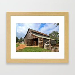 Who Left The Barn Door Open? Framed Art Print