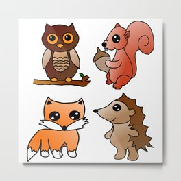 Forest Friends Metal Print