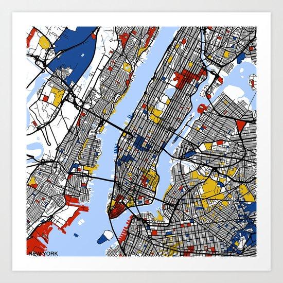 New York by mondrianmaps