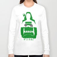 green arrow Long Sleeve T-shirts featuring Green Arrow by Sport_Designs
