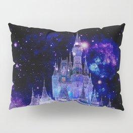 Celestial Palace : Purple Blue Enchanted Castle Pillow Sham