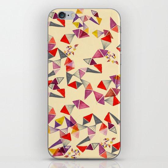 watercolour geometric shapes iPhone Skin