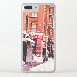New York City Snow Soho Clear iPhone Case