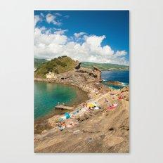 Sunbathing at the islet Canvas Print