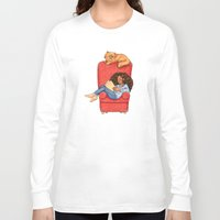 hermione Long Sleeve T-shirts featuring Reading fictional characters: Hermione by Susanne