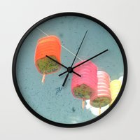 lanterns Wall Clocks featuring Lanterns by Cassia Beck