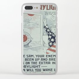 Vintage poster - Saving Daylight! Clear iPhone Case