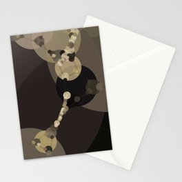 tara - dark abstract of tan chestnut brown taupe yellow beige Stationery Cards