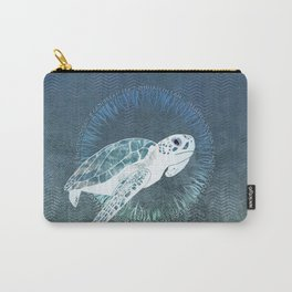 Green Sea Turtle Wreath Carry-All Pouch