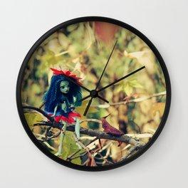FAIRY Night-Song Fairy in my Tree Wall Clock