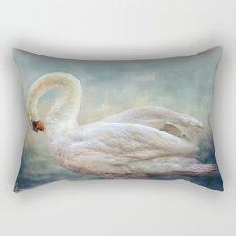 The Silver Swan Rectangular Pillow