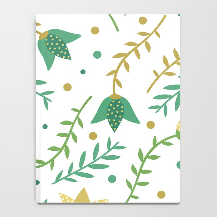 Floral white pattern  Notebook